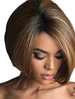 Недорогие -Парики из искусственных волос Жен. Естественный прямой Омбре Стрижка боб Искусственные волосы 12 дюймовый Модный дизайн / Новое поступление / Природные волосы Омбре Парик Средняя длина