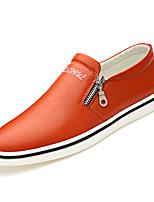 Недорогие -Муж. Комфортная обувь Полиуретан Осень На каждый день Мокасины и Свитер Доказательство износа Черный / Оранжевый / Синий