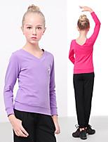 abordables -Danse classique Tenue Fille Entraînement / Utilisation Elasthanne / Lycra Motif / Impression Manches Longues Haut / Pantalon