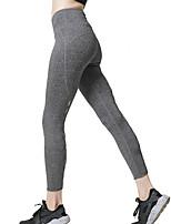 abordables -LINEBREAK Femme Découpé Pantalon de yoga - Noir, Gris Des sports Couleur unie, Mode Collants Course / Running, Fitness, Faire des exercices Tenues de Sport Respirable, Séchage rapide, Power Flex