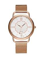 Недорогие -Жен. Нарядные часы Кварцевый Нержавеющая сталь Розовое золото Защита от влаги Аналоговый На каждый день Мода - Белый Черный
