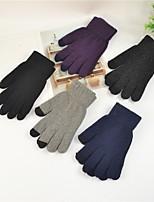 Недорогие -женская / мужская шерстяная пальца длиной пальцы перчатки - цветной блок