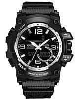 Недорогие -Муж. Спортивные часы Цифровой Черный Секундомер Фосфоресцирующий Cool Аналоговый Цифровой На каждый день Мода - Красный Синий Розовое золото