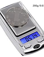 Недорогие -200g/0.01g Портативные Цифровые ювелирные шкалы Для офиса и преподавания