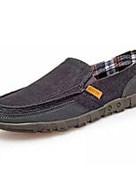 Недорогие -Муж. Комфортная обувь Полотно Весна & осень Мокасины и Свитер Темно-синий / Серый / Хаки