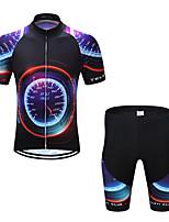 Недорогие -TELEYI С короткими рукавами Велокофты и велошорты - Черный Велоспорт Разные цвета / Эластичная