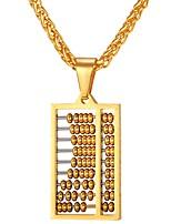 baratos -Homens Colares com Pendentes - Aço Inoxidável Clássico, Fashion Dourado, Prata 55 cm Colar Jóias 1pç Para Presente, Diário
