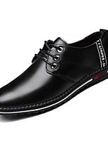 Недорогие -Муж. Комфортная обувь Полиуретан Осень На каждый день Кеды Дышащий Черный