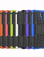 Недорогие -Кейс для Назначение Nokia Nokia 6 2018 / Nokia 3.1 Защита от удара / со стендом Кейс на заднюю панель Плитка / броня Твердый ПК для Nokia 8 / Nokia 6 / Nokia 6 2018