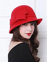 Недорогие -Чудесная миссис Мейзел Колпак шляпа шляпа Дамы Ретро Жен. Серый / Коричневый / Красный Бант Конструкция САР Шерсть костюмы