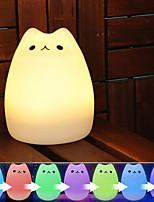 baratos -KWB 1conjunto Luz da Noite de Berçário Colorido USB Para Crianças / Desenho Animado / Criativo <5 V