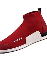 Недорогие -Муж. Комфортная обувь Эластичная ткань / Tissage Volant Зима На каждый день Мокасины и Свитер Нескользкий Черный / Красный
