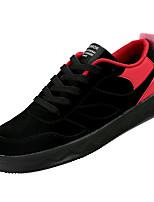 Недорогие -Муж. Комфортная обувь Полиуретан Зима На каждый день Кеды Нескользкий Контрастных цветов Черный / Черно-белый / Черный / Красный