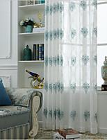 Недорогие -Прозрачные Занавески Оттенки 2 шторы 2*(W107cm×L245cm) / Вышивка / Спальня
