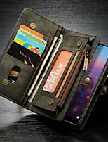 Недорогие -CaseMe Кейс для Назначение Huawei MediaPad P20 lite Кошелек / Бумажник для карт / со стендом Чехол Однотонный Твердый Кожа PU для Huawei P20 lite