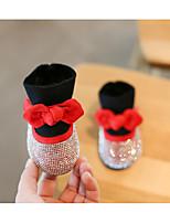 Недорогие -Девочки Обувь Синтетика Зима Удобная обувь / Модная обувь Ботинки для Дети Черный / Красный / Розовый