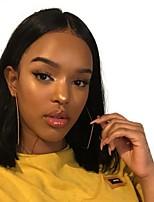 Недорогие -человеческие волосы Remy Полностью ленточные Лента спереди Парик Бразильские волосы Прямой Естественный прямой Черный Парик Стрижка боб 130% 150% 180% Плотность волос / Природные волосы