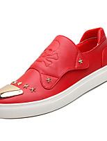 Недорогие -Муж. Комфортная обувь Полиуретан Осень На каждый день Мокасины и Свитер Дышащий Белый / Черный / Красный