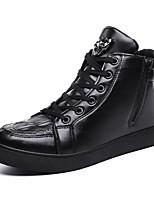 Недорогие -Муж. Комфортная обувь Полиуретан Зима На каждый день Кеды Нескользкий Черный / Винный