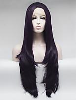 Недорогие -Синтетические кружевные передние парики Жен. Кудрявый Фиолетовый Свободная часть 180% Человека Плотность волос Искусственные волосы 18-26 дюймовый Регулируется / Кружева / Жаропрочная Фиолетовый Парик