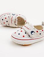 Недорогие -Мальчики / Девочки Обувь Хлопок Наступила зима Удобная обувь / Обувь для малышей Кеды для Ребёнок до года Темно-синий / Серый / Красный