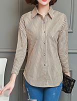Недорогие -Жен. С принтом Рубашка Классический Полоски