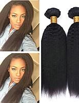 Недорогие -6 Связок Бразильские волосы Монгольские волосы Естественные прямые 8A Натуральные волосы Необработанные натуральные волосы Wig Accessories Подарки Косплей Костюмы 8-28 дюймовый Естественный цвет