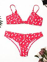 Недорогие -Жен. Классический Розовый Смелые Бикини Купальники - Геометрический принт M L XL