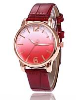 Недорогие -Жен. Наручные часы электронные часы Кварцевый Черный / Белый / Синий Повседневные часы Милый Аналоговый На каждый день Мода - Красный Синий Розовый