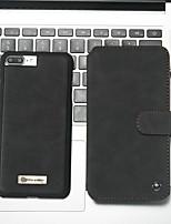 baratos -CaseMe Capinha Para Apple iPhone 8 Plus / iPhone 7 Plus Carteira / Porta-Cartão / Com Suporte Capa Proteção Completa Sólido Rígida PU Leather para iPhone 8 Plus / iPhone 7 Plus