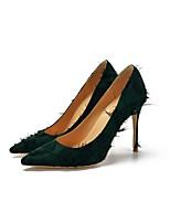 Недорогие -Жен. Деним Весна лето Обувь на каблуках На шпильке Заостренный носок Лиловый / Желтый / Зеленый