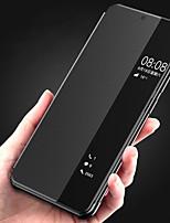 Недорогие -Кейс для Назначение Huawei P20 / P20 Pro с окошком / Флип / Авто Режим сна / Пробуждение Чехол Однотонный Твердый Кожа PU для Huawei P20 / Huawei P20 Pro