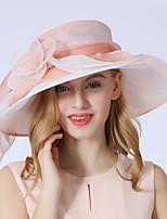 Недорогие -Elizabeth Чудесная миссис Мейзел Фетровые шляпы Кентукки шляпа дерби шляпа Дамы Ретро Жен. Розовый Цветы Конструкция САР Тюль костюмы