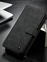 abordables -CaseMe Coque Pour Samsung Galaxy Note 8 Portefeuille / Porte Carte / Avec Support Coque Intégrale Couleur Pleine Dur faux cuir pour Note 8