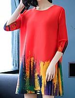 abordables -Femme Basique Mi-long Courte Robe Noir Orange Marine Taille unique Manches Longues