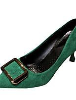 Недорогие -Жен. Полиуретан Весна На каждый день Обувь на каблуках На шпильке Пряжки Бежевый / Желтый / Зеленый