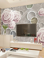 abordables -fond d'écran / Mural Toile Revêtement - adhésif requis Fleur / Motif / 3D