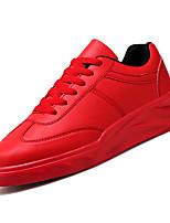 Недорогие -Муж. Комфортная обувь Полиуретан Осень На каждый день Кеды Дышащий Белый / Черный / Красный
