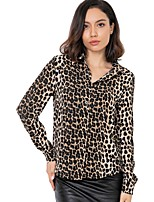 abordables -chemise lâche femme - support léopard