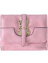 Недорогие -Жен. Мешки PU Бумажники Молнии Сплошной цвет Темно-синий / Пурпурный / Коричневый