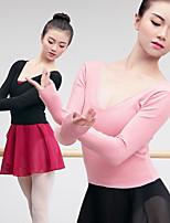 abordables -Danse classique Hauts Femme Entraînement / Utilisation Elasthanne / Lycra Elastique Manches Longues Haut