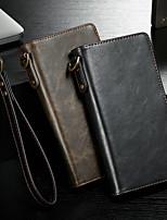Недорогие -CaseMe Кейс для Назначение Apple iPhone 6 Plus / iPhone 6s Plus Кошелек / Бумажник для карт / Флип Чехол Однотонный Твердый Кожа PU для iPhone 6s Plus / iPhone 6 Plus