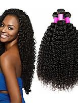 abordables -Lot de 3 Cheveux Indiens Kinky Curly 8A Cheveux Naturel humain Cheveux humains Naturels Non Traités Cadeaux Costumes Cosplay Casque 8-28 pouce Couleur naturelle Tissages de cheveux humains Doux