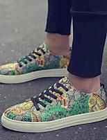 Недорогие -Муж. Комфортная обувь Полотно Весна & осень Кеды Зеленый
