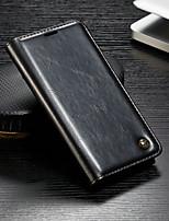 Недорогие -CaseMe Кейс для Назначение OnePlus OnePlus 6 Кошелек / Бумажник для карт / со стендом Чехол Однотонный Твердый Кожа PU для OnePlus 6