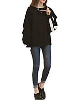 Недорогие -женская футболка большого размера - сплошная цветная шея