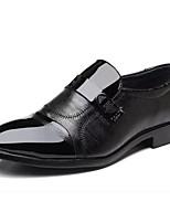 Недорогие -Муж. Официальная обувь Полиуретан Осень Деловые Мокасины и Свитер Доказательство износа Черный