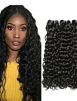 Недорогие -3 Связки Малазийские волосы Волнистые Натуральные волосы Человека ткет Волосы / Удлинитель / Пучок волос 8-28 дюймовый Естественный цвет Ткет человеческих волос Машинное плетение