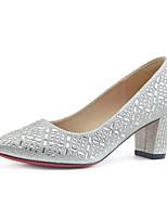 abordables -Femme Matière synthétique Printemps & Automne Chaussures de mariage Talon Bottier Strass Argent / Champagne / Mariage