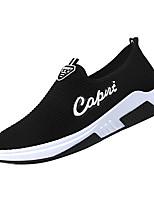 Недорогие -Муж. Комфортная обувь Эластичная ткань / Tissage Volant Зима На каждый день Мокасины и Свитер Нескользкий Черный / Серый